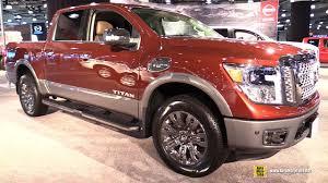 nissan titan 2018 2017 nissan titan platinum reserve exterior and interior