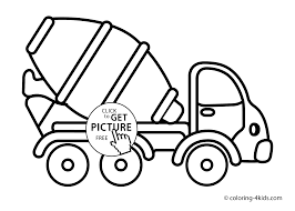 cement mixer truck transportation coloring pages for kids house