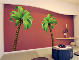 vinyl wall decal sticker tropical palm tree by stickerbrand 89 95 removable vinyl wall decal palm trees