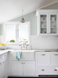 white subway tile kitchen backsplash plain white ceramic subway tile backsplash minimalist