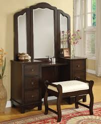 bedroom vanity sets also with a mirrored makeup table also with a