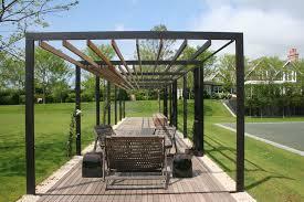 modern pergola deck contemporary with grass covered patio