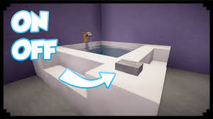 Minecraft How To Make A Furniture by Minecraft How To Make A Working Bathtub Youtube