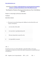download test bank for pediatric nursing an introductory text 11th