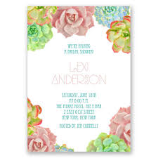 bridal shower invitation brilliant succulents wedding shower invitation invitations by