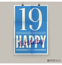 happy birthday poster card forty years old vector image