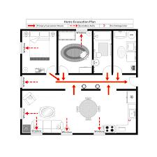 Evacuation Floor Plan Template Home Evacuation Plan 1