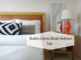 modern eclectic master bedroom tour youtube