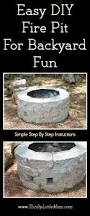 How To Make A Backyard Fire Pit Cheap - easy diy inexpensive firepit for backyard fun winter parties