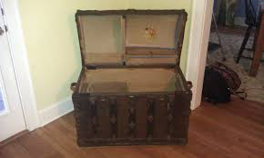 corbin cabinet lock co antique trunk with name also name of lock company collectors weekly