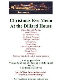 rabun county blog archive christmas eve menu u0026 party at the
