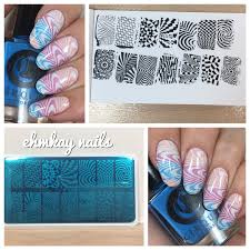 ehmkay nails born pretty water marble plate stamping and review