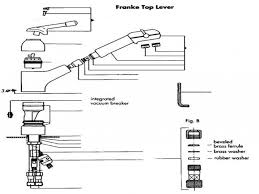 franke kitchen faucet parts franke triflow faucet with spray