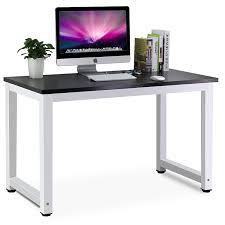 B O Schreibtisch Holz Tribesigns Moderner Schreibtisch Computertisch Pc Tisch 25mm Dicke