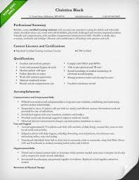 Summary Of Skills Resume Example by Nursing Resume Sample U0026 Writing Guide Resume Genius