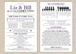 Wedding Ceremony Bulletin Template Funny Silhouette Ceremony Program Pdf Modern Designsbydvb