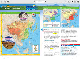 Asia Physical Map Physical Geography Of East Asia 6th Grade Social Studies