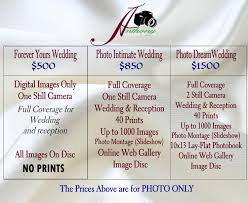 Wedding Packages Prices Wedding Packages J Anthony Digital Studio