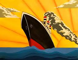 deco painting art deco boat by emma childs