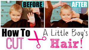how to cut little boy u0027s hair with clippers u0026 scissors youtube