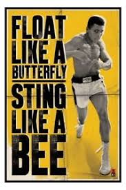 muhammad ali poster float like a butterfly sting like a bee