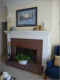 colors that go with red brick fireplace painting best home