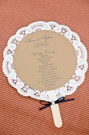 diy wedding fans make your own program fan step by step and free