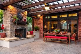 Backyard Concrete Patio Decorative Concrete Patio Houzz