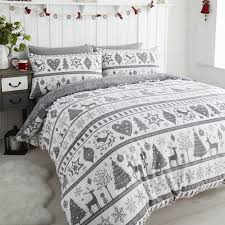 King Size Duvet Bedding Sets Gorgeous Noel Grey Quilt Cover Sets Festive Duvet King