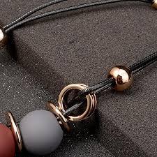 black statement choker necklace images Black leather chain plastic gem statement choker necklace jpg