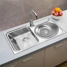 evier rond cuisine évier rond lavabo de cuisine en acier inoxydable 57x45cm panier