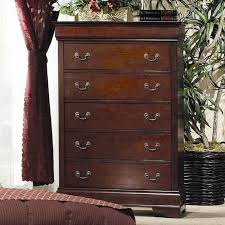 louis philippe cherry wood chest of drawer steal a sofa