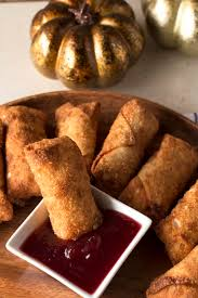 thanksgiving sauce thanksgiving leftover stuffed egg rolls u0026 cranberry dipping sauce