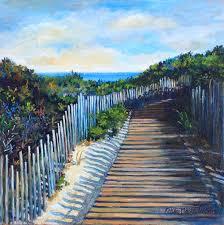 the boardwalk on ocean edge oil 24x24 u2014 karen north wells