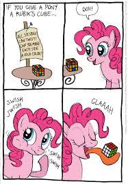 Mlp Funny Meme - pinkie pie and rubik s cube ponys and rubix cubes pinterest