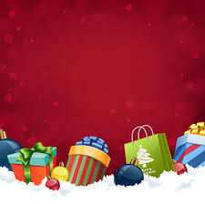 red background with christmas gift vector vector background