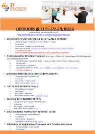 Post Resume For Government Jobs by St Ericsson Hiring Professionals Multiple Jobs Multiple