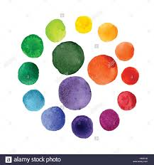 handmade watercolor texture colorful paint drops color wheel stock