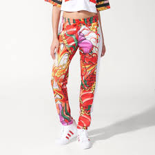 dragon print track pants white adidas us