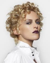 short haircuts with perms for ladies in their 80s short hairstyle with blonde curls perm