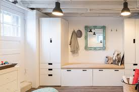ikea mud room kids studio and mudroom eclectic entry boston by justine