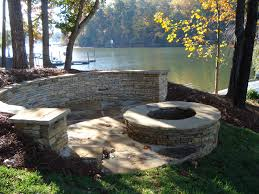 Stone Patio Images by Lakeside Patio And Fire Pit