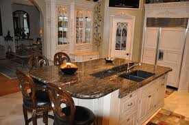 mahogany wood grey prestige door kitchen islands with granite top