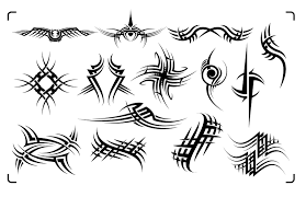 creative pinstripes tribal ornament set pinstriping