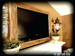 picture frame around wall mounted tv my ugly split level diy barn