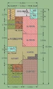 desain rumah lebar 6 meter rumah komplit di lahan 6 x 15 m eramuslim
