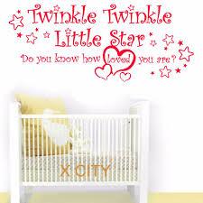 twinkle twinkle little star wall art sticker vinyl transfer decal