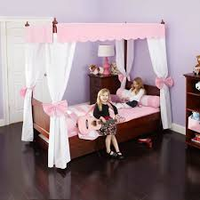 Princess Canopy Bed Canopy Bed In Pink And White By Maxtrix 260 2