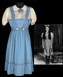the iconic blue dress worn by garland as dorothy gale in the