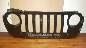 jeep wrangler front grill new jeep wrangler jl front grille spy photos